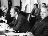 President Gerald Ford in a Cabinet Meeting Six Days before His First State of the Union Address