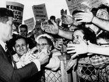 President John Kennedy Greets Well-Wishers