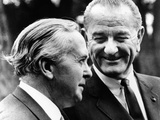 President Lyndon Johnson Meeting British Prime Minister Harold Wilson