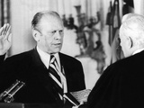Gerald Ford Takes the Oath of Office as the 38th President of the United States