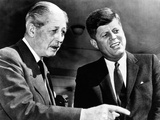 British Prime Minister Harold Macmillan Meets with President John Kennedy in Washington