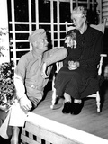 Dwight Eisenhower at His Mother's Knee