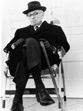 Former President Harry S Truman on His Front Porch in Independence  Missouri  Nov 11  1967