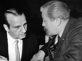 Melvin Belli Confers with His Client  Jack Ruby  Prior to Bail Hearing