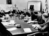 President Lyndon Johnson Meets with His Cabinet