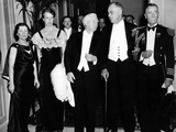Pres Franklin and Eleanor Roosevelt  Dinner Guests at Vice-Pres and Mrs Garner Hotel Apartment