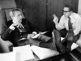 President Richard Nixon and Henry Kissinger Talking on Air Force One