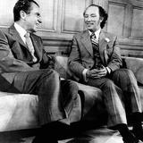 Pres Richard Nixon and Canadian Prime Minister Elliott Trudeau  Parliament Hill Office  Apr 14 1972