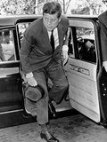 President John Kennedy Steps from His Limousine During the Cuban Missile Crisis
