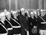 Pres Franklin Roosevelt Singing 'Home on the Range' with American Legion Glee Club of Syracuse  NY