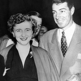 Margaret Truman and Joe DiMaggio at the Fights