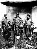 Future Emperor Haile Selassie (Left) with Emperor Lidi Yassou  Emperor (Center) and Iere Binu (AA F