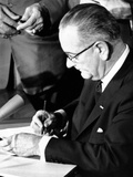 President Lyndon Johnson Signing the 1964 Civil Rights Bill  July 2  1964