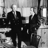 Vice Pres Gerald Ford in Kitchen of Alexandria  Virginia  Home with Talk Show Host Dick Cavett