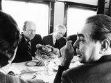 President Ford Meets with Leonid Brezhnev and Others Aboard a Russian Train to Vladivostok