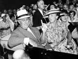 Pres Franklin Roosevelt and Animated Eleanor Roosevelt  Leave Society Wedding  Hyde Park  NY