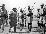 Deposed Ethiopian Leader  Haile Selassie with Ethiopians Soldiers Fighting for British  Mar 10 1941