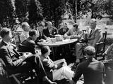 President Franklin Roosevelt at a Picnic  Hyde Park  NY  Sept 11  1935