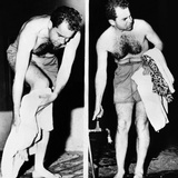 Republican Vice President-Elect Richard Nixon after an Ocean Swim