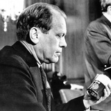 House Republican Leader Gerald Ford  Decries Inflation in a Press Conference