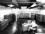 View of New IBM Type '702' Electronic Data Processing Machine  'Giant Brain' Designed for Business