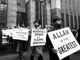 Black Muslims Picket NY Criminal Courts Building Where Two Nation of Islam Members Stand Trial