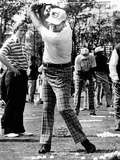 Jack Nicklaus Watches Pres Ford's Golf Swing at Inverrary Classic  Lauderhill  Florida  Feb 2  1975