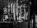 Industrial Chemist Among Glass Tubes in a Laboratory  Feb 1943