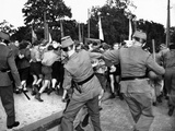 West Berlin Police Attempt to Control Demonstrating East German Youths