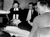 Dying Assassin Lee Harvey Oswald in Ambulance after Shot by Jack Ruby  Dallas Police Station
