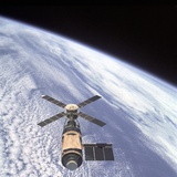 Skylab Orbital Workshop in Earth Orbit