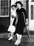 Jacqueline Kennedy  Wife of Senator John Kennedy She Leaves New England Baptist Hospital