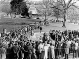 Crowds Queue to View Grave of Pres John Kennedy on First Anniversary of Assassination  Nov 22  1964