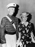 Mrs Dwight D Eisenhower with 22 Year Old John after West Point Graduation  Jun 6  1944