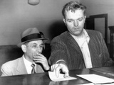 Meyer Lansky Is Booked on Vagrancy Charges at the West 54th Street Police Station in Manhattan