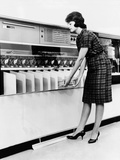 IBM 1419 Magnetic Character Reader Read and Sorted Checks at Up to 1600 Per Minute  Aug 24  1961