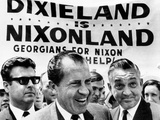 'Dixieland Is Nixonland'  Reads a Big Sign Behind Republican Presidential Candidate  Richard Nixon