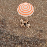 The Soyuz Space Craft Carrying International Space Station Crew Lands in Kazakhstan