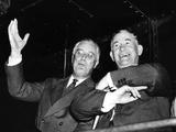 Pres Franklin Roosevelt with Senate Majority Leader Alben Barkley During 1938 Mid-Term Elections