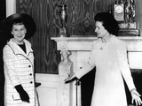 Former First Lady Mamie Eisenhower and Lady Bird Johnson at Annual Luncheon for Senate Ladies