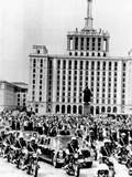 President Richard Nixon and President Nicolae Ceausescu Ride Through Bucharest  Romania