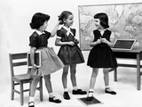 Little Girls School Dressed in 1953