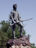 Minute Man Statue on Lexington Battle Green  the Site of the First Battle in the Revolutionary War
