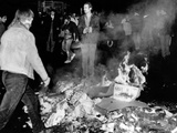 Students Burn Garbage in the Latin Quarter of Paris as New Violence Erupted Early May 23  1968