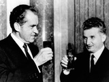 President Richard Nixon Toasts President  Nicolae Ceausescu During His Visit to Romanian