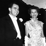 Vice President Richard and Patricia Nixon at Pre-Inauguration Festivities  Jan 17  1956