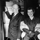 Republican Presidental Nominee  General Dwight Eisenhower  and Wife Mamie  Voting in 1952 Election