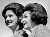 Lady Bird Johnson  the First Lady  with Her Oldest Daughter  Lynda Bird Johnson
