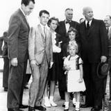 President Eisenhower's Grandchildren See Him Off on His Trip the East Asia