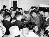 Eleanor Roosevelt Visiting Migrant Workers in at the Fsa Farmersville Camp in California